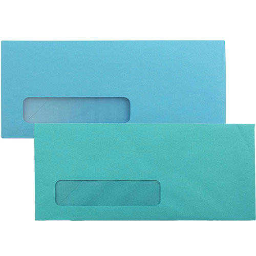 Blue #10 Window Display Envelopes