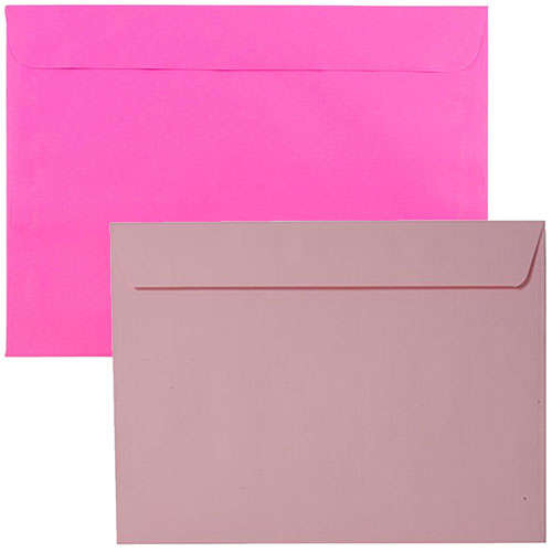 Pink Large Paper Booklet Envelopes