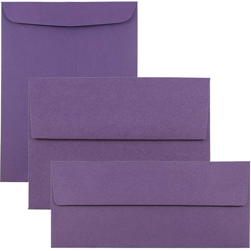 Dark Purple Envelopes & Paper