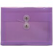 Purple Index Plastic Envelopes - 5 1/2 x 7 1/2