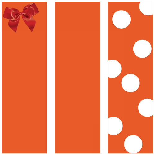 Orange Wrapping Paper Rolls