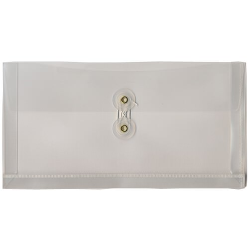 Clear #10 Business Plastic Envelopes - 5 1/4 x 10
