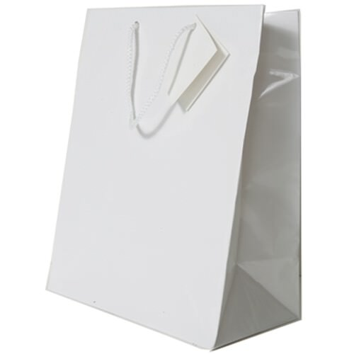 White Gift Bags with Handle