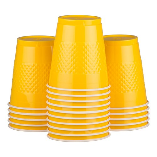 Yellow Plastic Cups