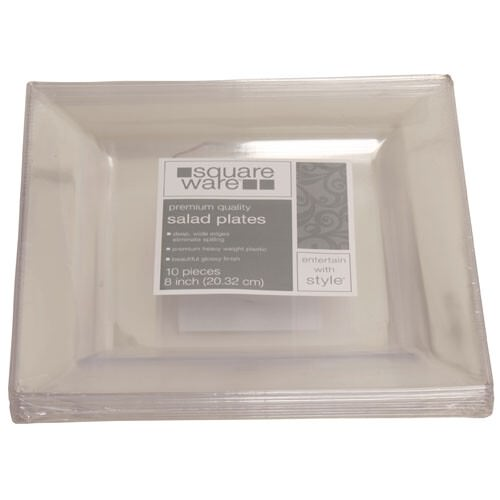 Clear Square Plates