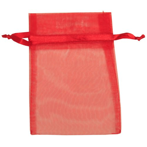 Red Sheer Organza Bags