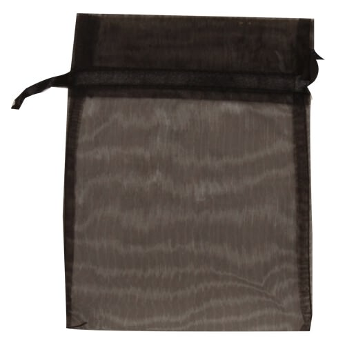 Black Sheer Organza Bags
