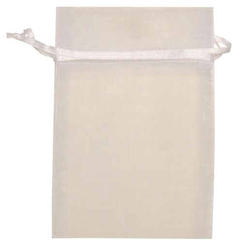 White Sheer Organza Bags