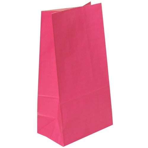 Pink Paper Lunchbags