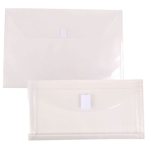 Clear Plastic Envelope with VELCRO®brandClosure