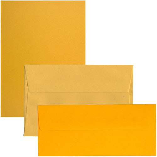 Sunflower Yellow Envelopes