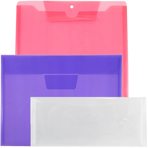 Plastic Envelopes with Tuck Flap Closure