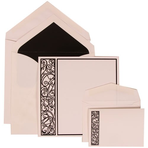 Black Intricate Panel Set