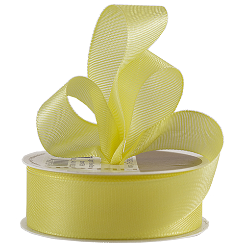 Yellow Woven Edge Ribbon