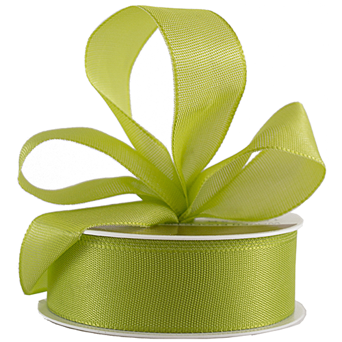 Green Woven Edge Ribbon