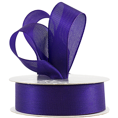 Purple Woven Edge Ribbon