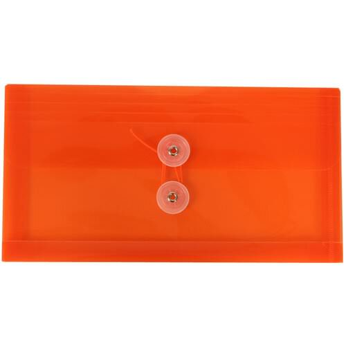Orange #10 Business Plastic Envelopes -5 1/4 x 10