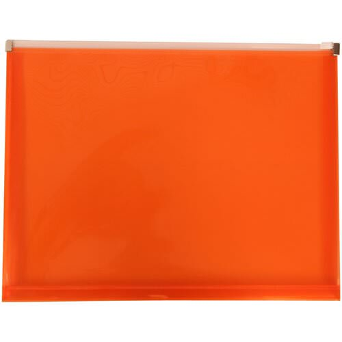 Orange Plastic Zip Closure Envelopes