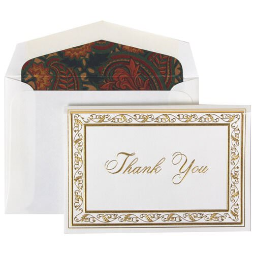 Gold Acanthus Thank You Set