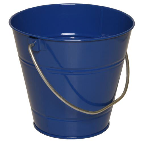 Blue Metal Buckets