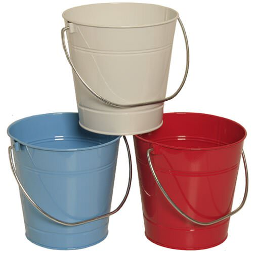 Solid Color Metal Pails