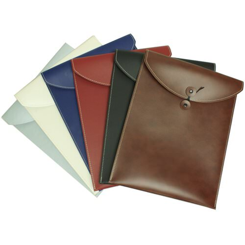 Leather Button & String Envelopes