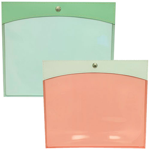 Plastic Paper Holder with Leather Trim