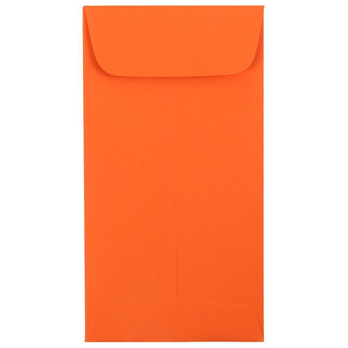 Orange #7 Coin Envelopes - 3 1/2 x 6 1/2