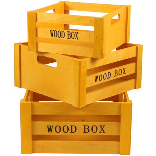 Yellow Wooden Crates