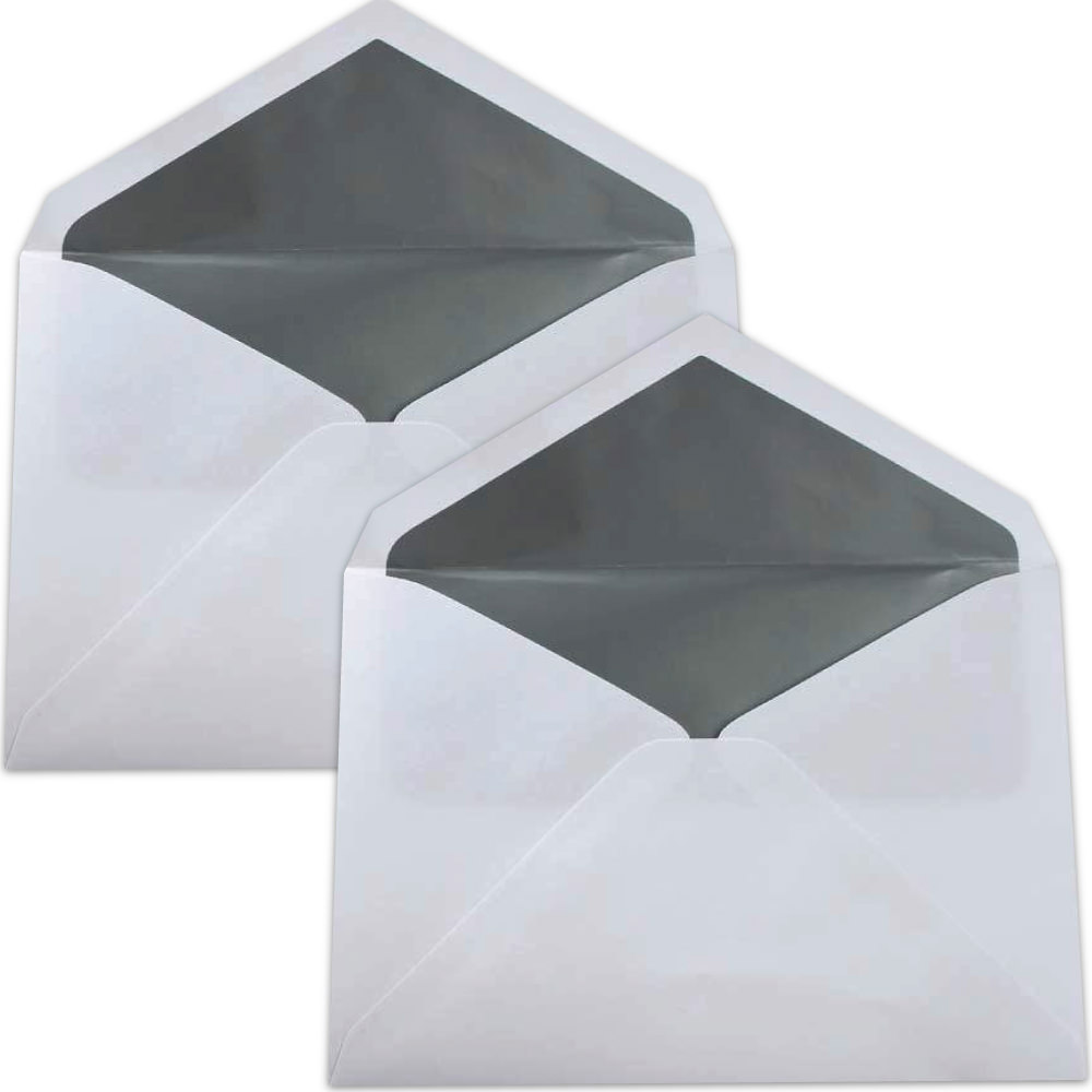 Silver Lined Wedding Envelopes