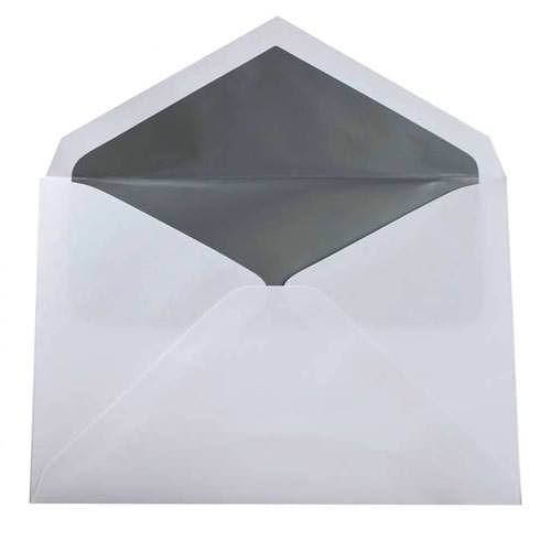 Silver & Grey 5 3/4 x 8 Envelopes
