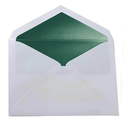 Green 5 3/4 x 8 Envelopes