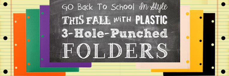 Back to School 3 Hole Punch Folders