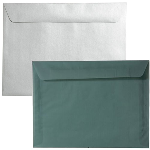 Silver & Grey Large Booklet Envelopes