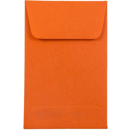 Orange #1 Coin Envelopes - 2 1/4 x 3 1/2