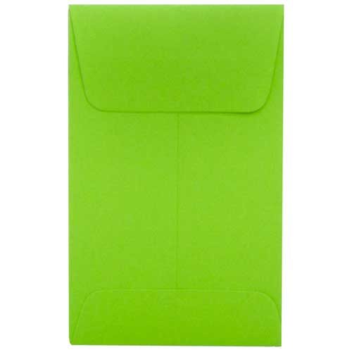 Green #1 Coin Envelopes - 2 1/4 x 3 1/2