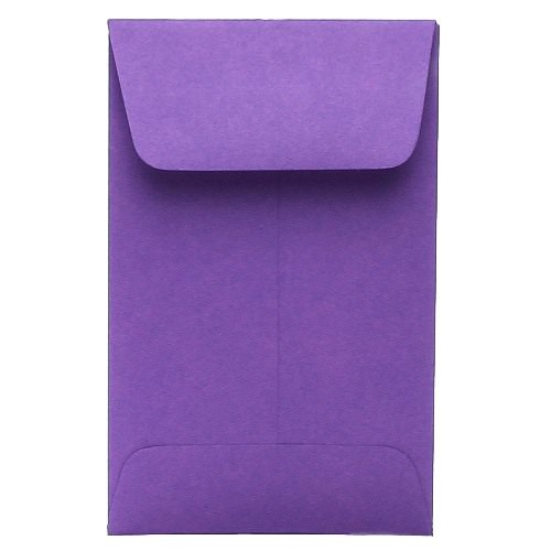 Purple #1 Coin Envelopes - 2 1/4 x 3 1/2