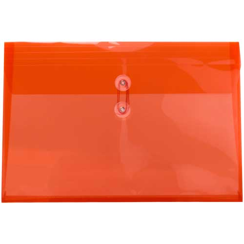 Orange Legal Plastic Envelopes- 9.75x14.5