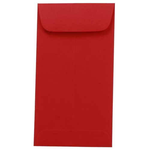 Red #7 Coin Envelopes - 3 1/2 x 6 1/2