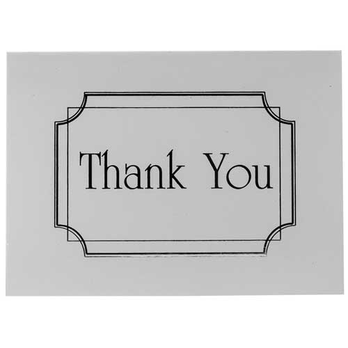 Silver Thank You Note Sets