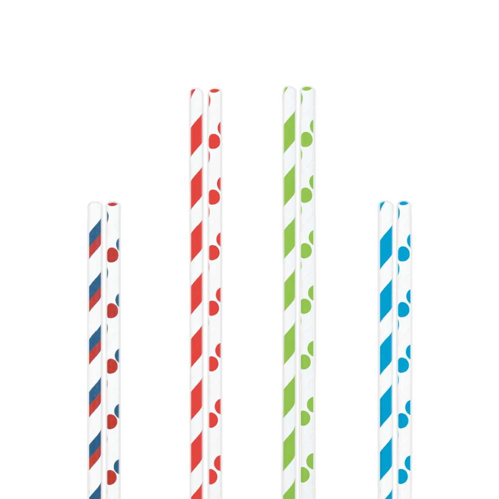 Color Paper Straws