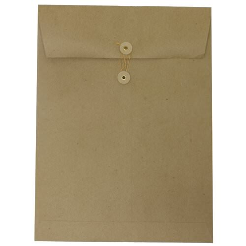 Kraft Paper Button and String Envelope