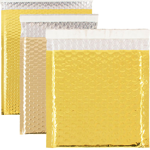 Gold Metallic Bubble Mailers-Self AdhesiveClosure