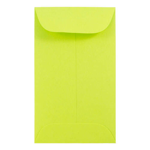 Green #3 Coin Envelopes - 2 1/2 x 4 1/4