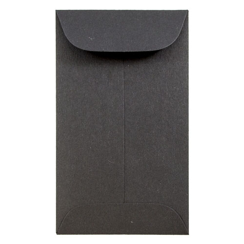 Black #3 Coin Envelopes - 2 1/2 x 4 1/4