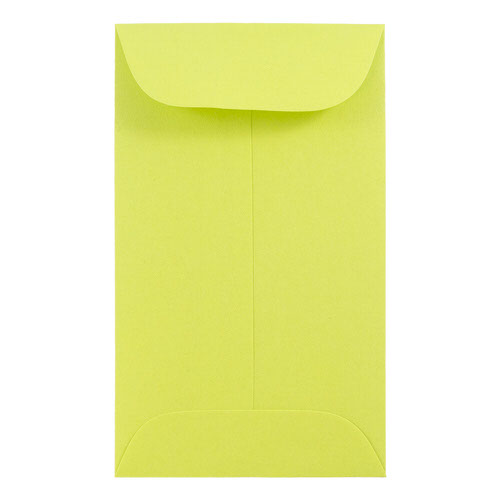 Green #5 1/2 Coin Envelopes - 3 1/8 x 5 1/2