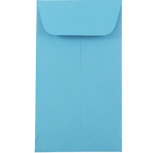 Blue #6 Coin Envelopes - 3 3/8 x 6
