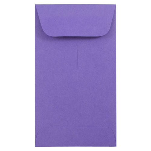 Purple #6 Coin Envelopes - 3 3/8 x 6