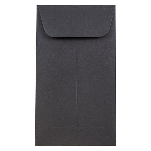 Black #6 Coin Envelopes - 3 3/8 x 6