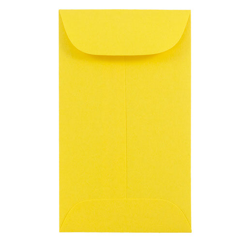 Yellow #6 Coin Envelopes - 3 3/8 x 6